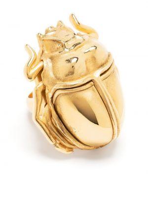 Złoty pierścionek oversize Saint Laurent