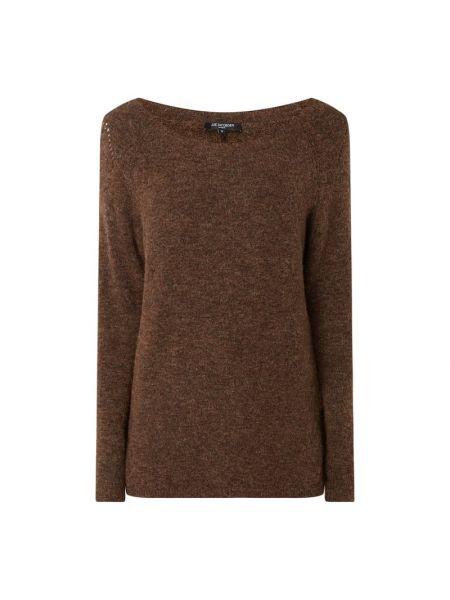 Sweter wełniany - brązowy Ilse Jacobsen
