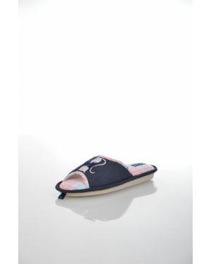Тапочки на каблуке синие De Fonseca