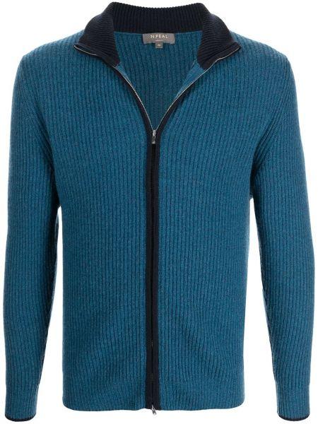 Niebieski z kaszmiru sweter N.peal