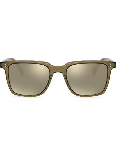 Солнцезащитные очки прозрачные - зеленые Oliver Peoples