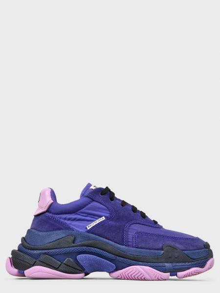 Текстильные кроссовки - фиолетовые Balenciaga