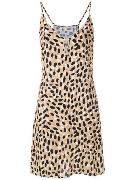 Платье мини с V-образным вырезом без рукавов на молнии из вискозы Track & Field