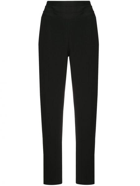 Шерстяные черные брюки узкого кроя с потайной застежкой Jason Wu Collection