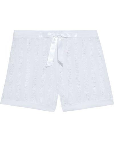 Хлопковые пижамные белые шорты Myla