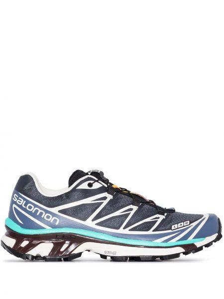 Синие спортивные текстильные кроссовки Salomon S/lab