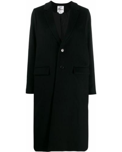 Однобортное шерстяное черное длинное пальто Comme Des Garçons Noir Kei Ninomiya