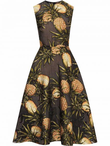 Платье миди - черное Oscar De La Renta