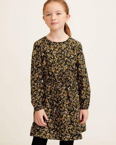 Платье хлопковое на молнии Mango Kids