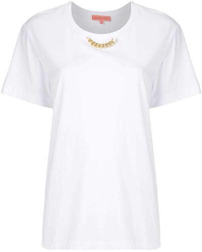 Белая хлопковая футболка свободного кроя с круглым вырезом Manning Cartell