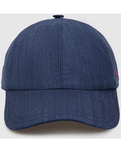 Шерстяная синяя кепка Isaia