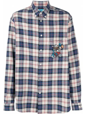 Beżowa koszula bawełniana zapinane na guziki Gucci