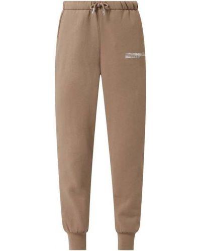 Beżowe spodnie dresowe bawełniane Only
