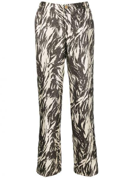 Коричневые зауженные брюки с карманами на молнии F.r.s. For Restless Sleepers