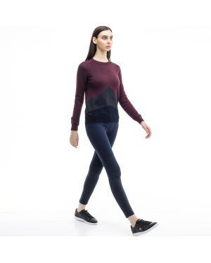 Укороченные брюки из вискозы темно-синий Lacoste