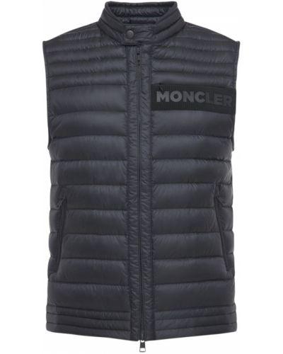 Nylon czarny pikowana kamizelka Moncler