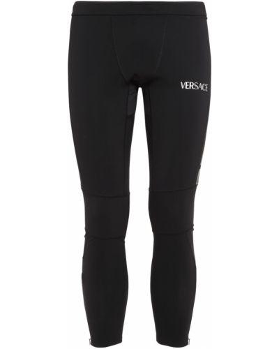 Legginsy - czarne Versace Underwear