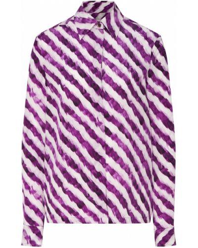 Блузка классическая шелковая Dries Van Noten