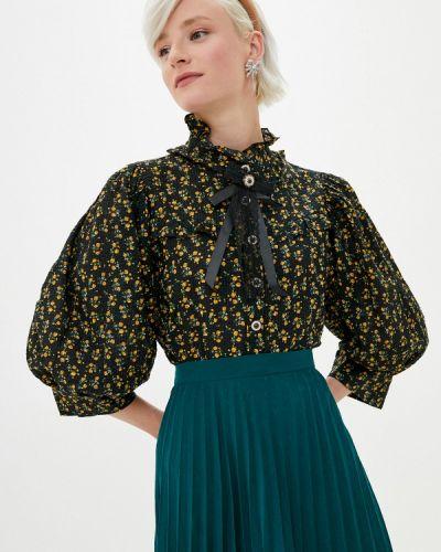 Черная блузка с длинным рукавом с длинными рукавами Sister Jane