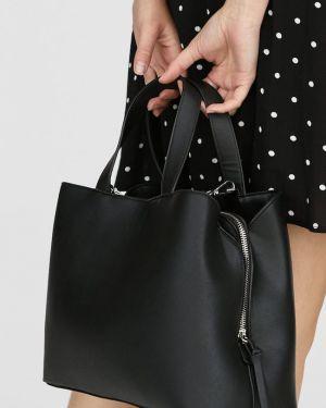 Базовая сумка шоппер с камнями Stradivarius
