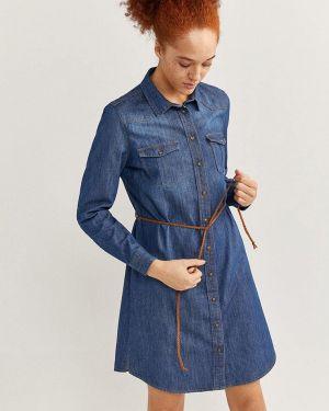 Джинсовое платье - синее Springfield