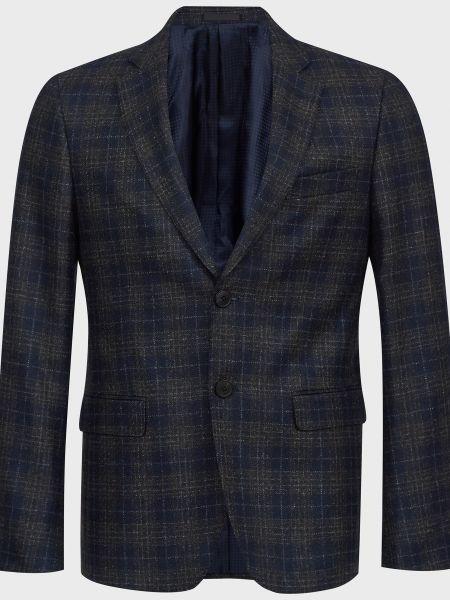Шерстяной пиджак - синий Lab. Pal Zileri