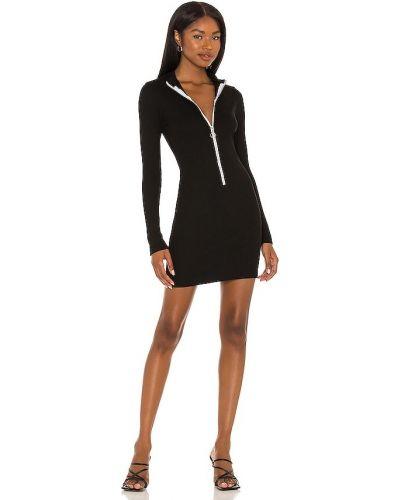 Czarna sukienka bawełniana Monrow