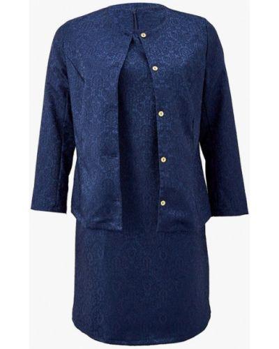 Повседневное синее платье Prewoman