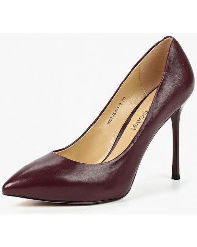 Кожаные туфли на каблуке осенние Marie Collet