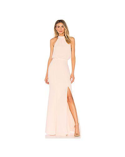 Вечернее платье розовое на пуговицах Likely