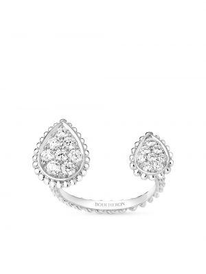 Biały złoty pierścionek z diamentem Boucheron