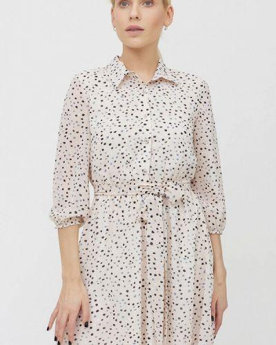 Бежевое платье-рубашка Cardo