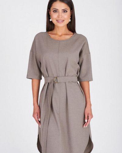 Повседневное платье серое осеннее Eliseeva Olesya