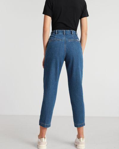 Синие джинсы с высокой посадкой с карманами Wrangler
