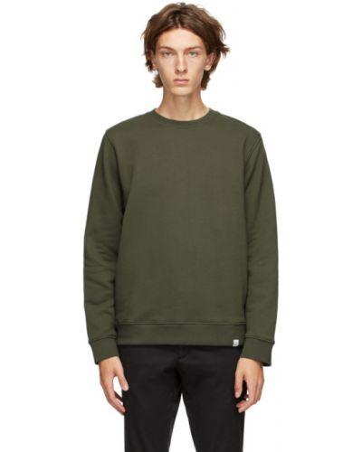 Frotte zielony bluza z długimi rękawami z kołnierzem Norse Projects