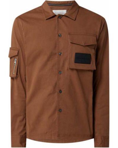 Brązowa kurtka bawełniana Calvin Klein Jeans