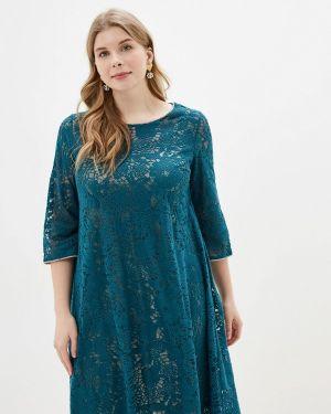 Вечернее платье осеннее зеленый Kontaly