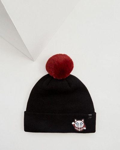 Черная шапка весенняя Karl Lagerfeld