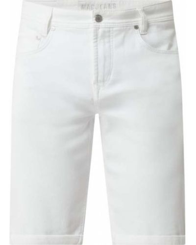 Białe bermudy jeansowe bawełniane Mac