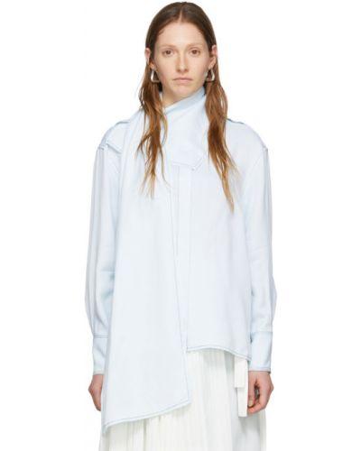 Блузка с длинным рукавом с воротником-стойкой из вискозы Proenza Schouler