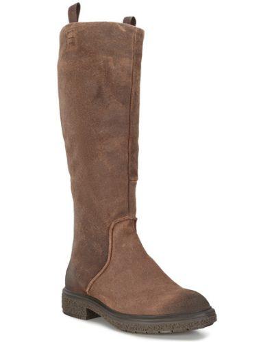 Кожаные сапоги - коричневые Ecco