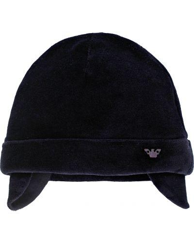 Синяя хлопковая шапка Armani Junior