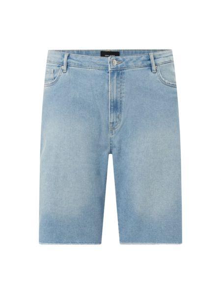 Niebieskie szorty jeansowe bawełniane Vero Moda Curve