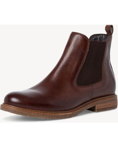 Коричневые ботинки на каблуке Tamaris