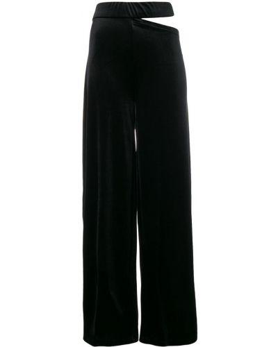 Черные свободные брюки с бантом с поясом Marta Jakubowski