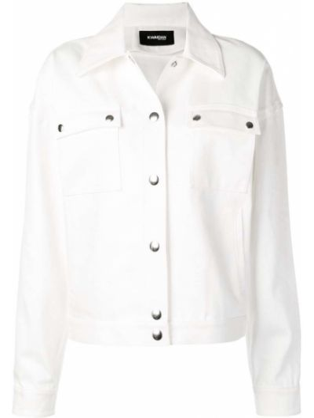Хлопковая белая джинсовая куртка с карманами Kwaidan Editions