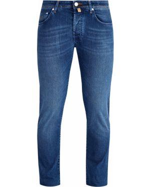 Прямые джинсы с нашивками синий Jacob Cohen