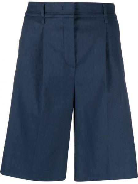 Синие хлопковые с завышенной талией шорты Luisa Cerano
