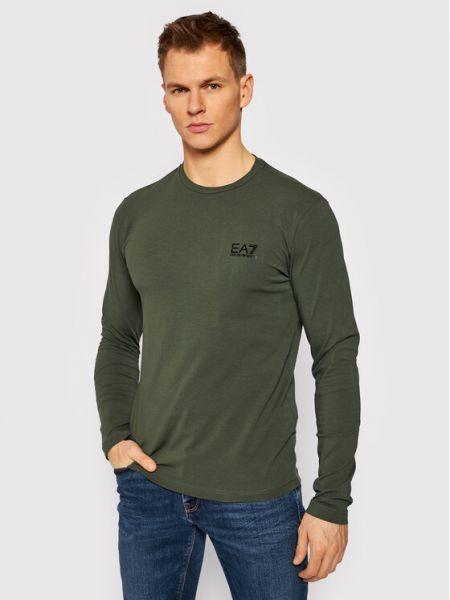 Zielony koszulka z długim rękawem Ea7 Emporio Armani