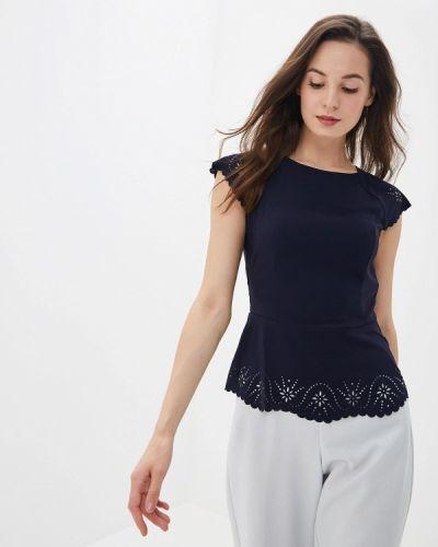 Блузка с коротким рукавом синяя весенний Yuna Style